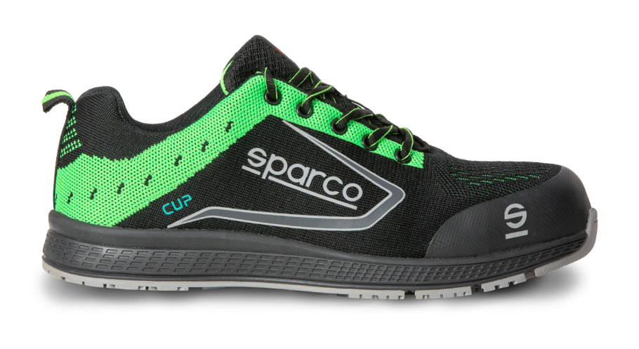SHOE CUP S1P BLACK/FLUO GREEN