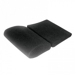 Partitioned seat cushion - Velour black for Profi SPG