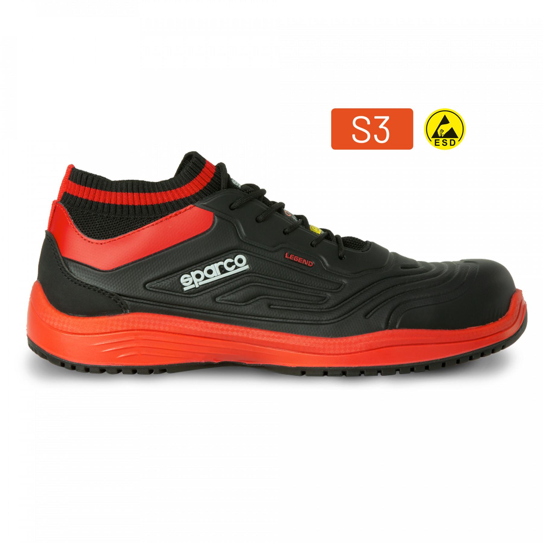 SHOE LEGEND S3 ESD BLACK/RED S