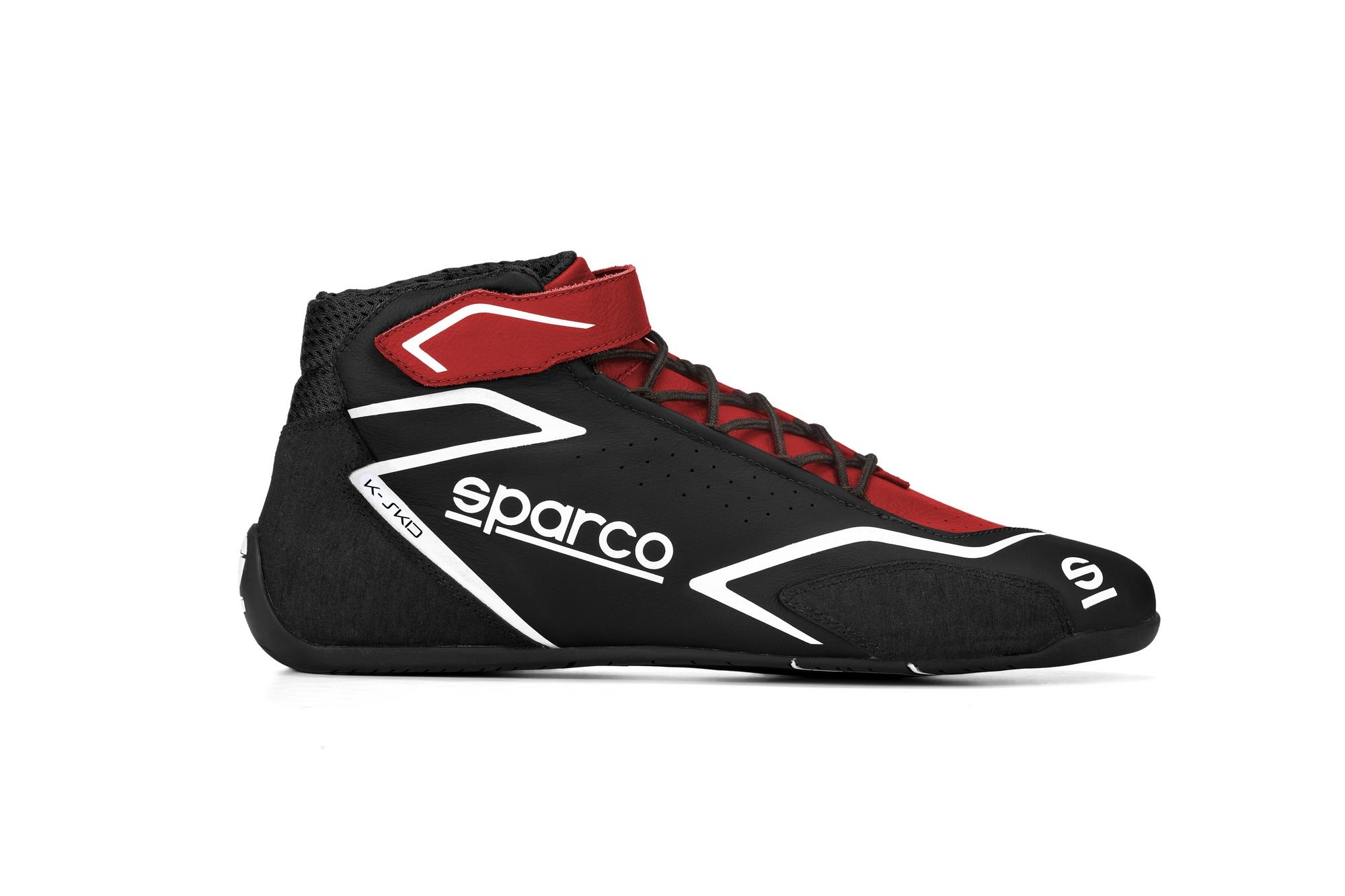 SHOE K-SKID SZ 35 RED/BLACK