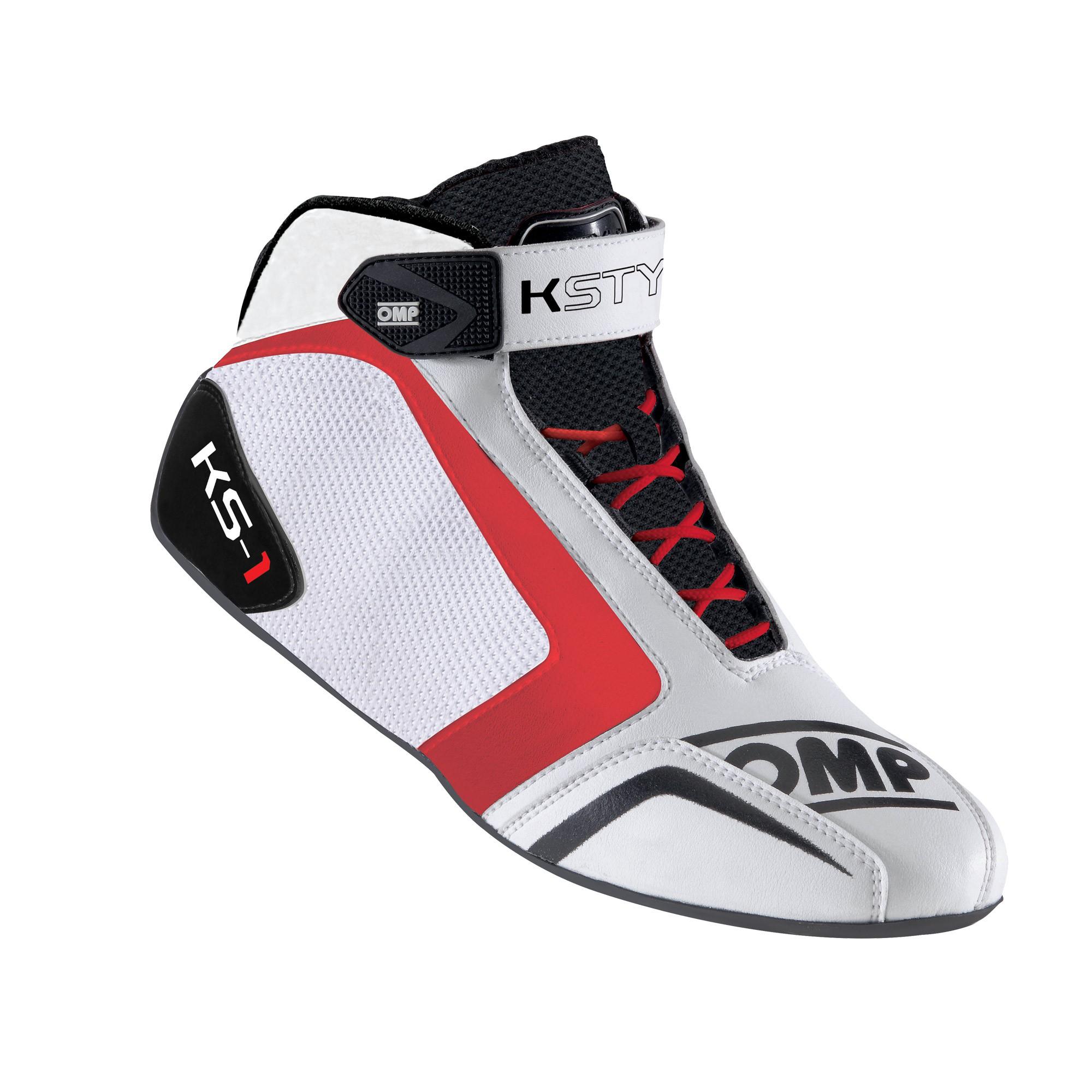 KS-1 SHOES WHITE/BLACK/RED SZ 32