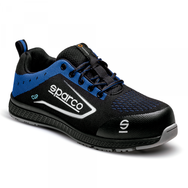SHOE CUP S1P BLACK/BLUE SZ 35
