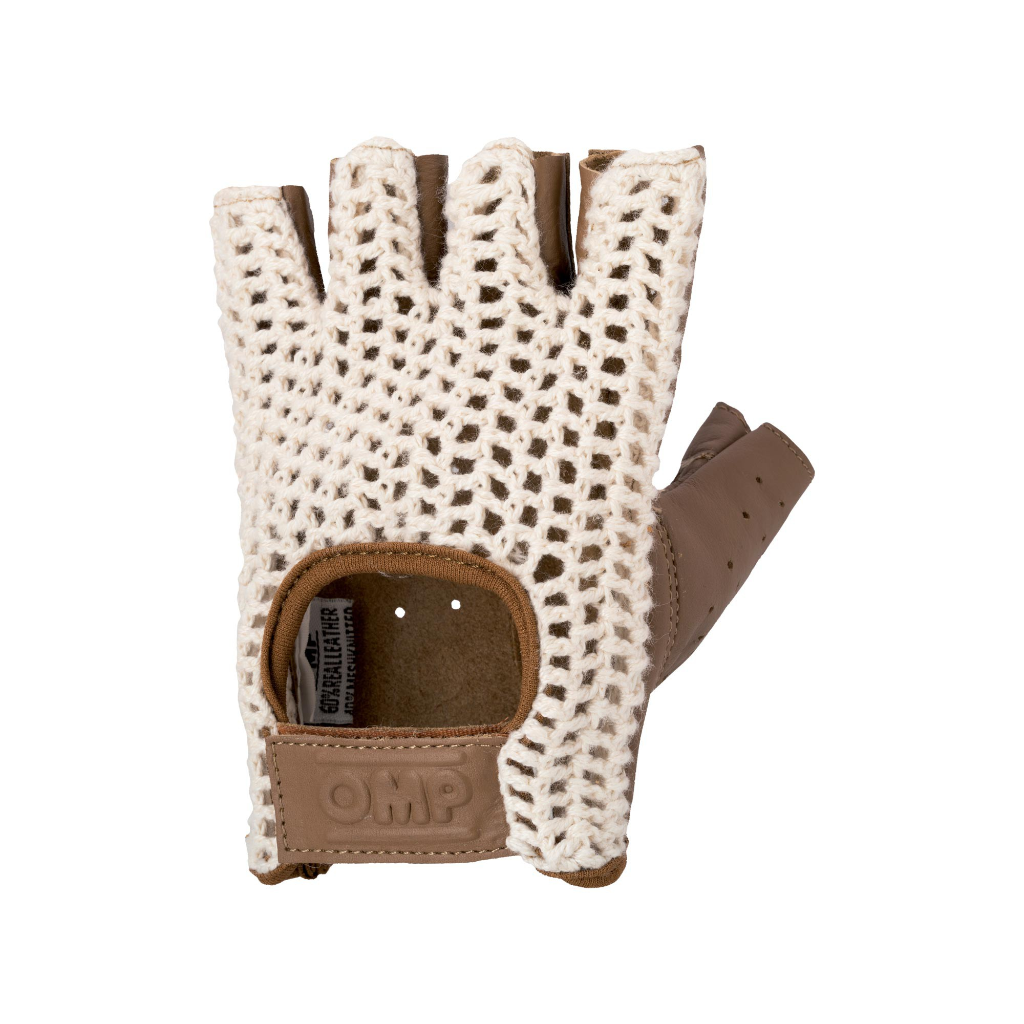 TAZIO:VINTAGE GLOVE CREAM/BROWN LEATHER SIZE:L